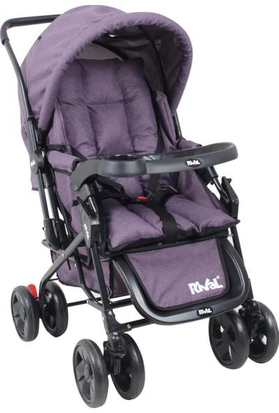Rival RV107 Maxi Çift Yönlü Bebek Arabası Mor