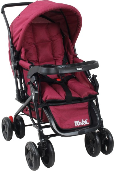 Rival RV107 Maxi Çift Yönlü Bebek Arabası Bordo