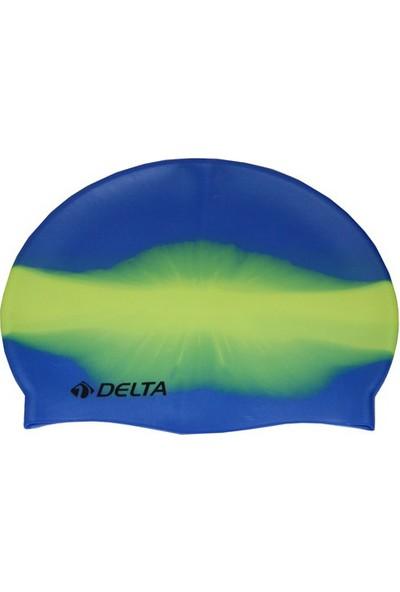 Delta Silikon Bone Yüzücü Havuz Deniz Bonesi (Gökkuşağı Desenli)