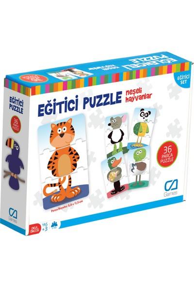CA GamesEğitici Puzzle Neşeli Hayvanlar