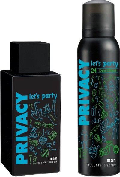 Privacy Man Let's Party EDT 100 ml Erkek Parfüm & 150 ml Deodorant