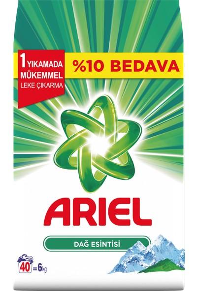 Ariel 6 kg Toz Çamaşır Deterjanı Dağ Esintisi Beyazlar İçin