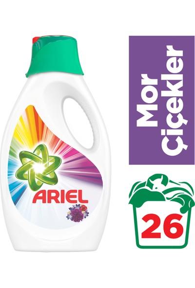 Ariel 26 Yıkama Sıvı Çamaşır Deterjanı Mor Çiçekler