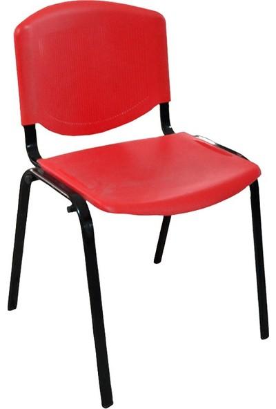 Üreten Burada Form Plastik Sandalye Kirmizi 2'li