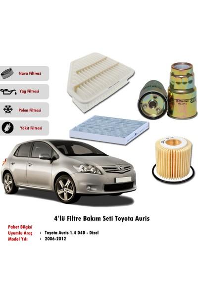Gold Filter Toyota Auris 2006-2012 1.4 D4D Filtre Bakım Seti Dizel