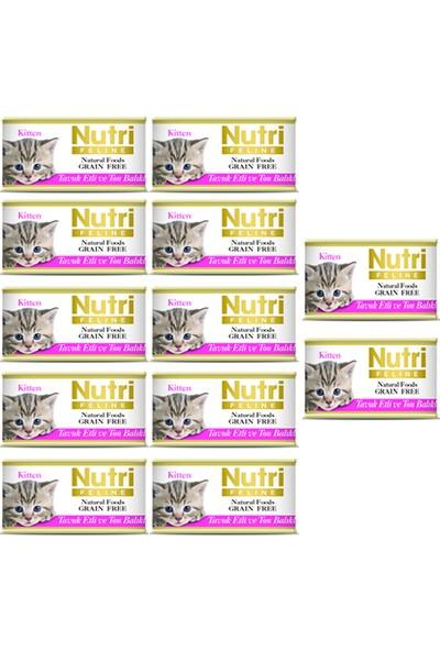Nutri Feline Kitten Tavuk & Ton Balığı Konserve Yavru Kedi Maması 85 gr 12 Adet