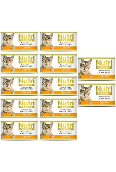 Nutri Feline Sığır Etli Konserve Yetişkin Kedi Maması 85 gr 12 Adet
