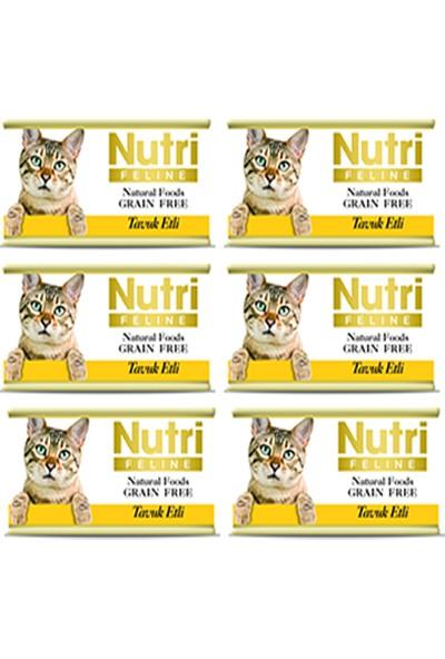 Nutri Feline Tavuk Etli Konserve Yetişkin Kedi Maması 85 gr 6 Adet