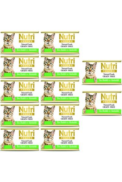 Nutri Feline Ton Balıklı & Alabalıklı Konserve Yetişkin Kedi Maması 85 gr 12 Adet