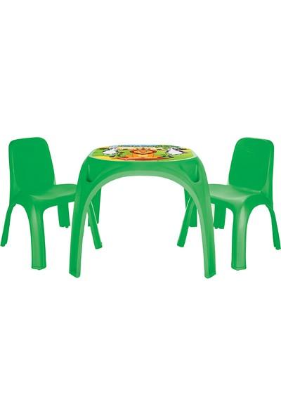 Pilsan King Masa İki Sandalyeli (Yeşil)
