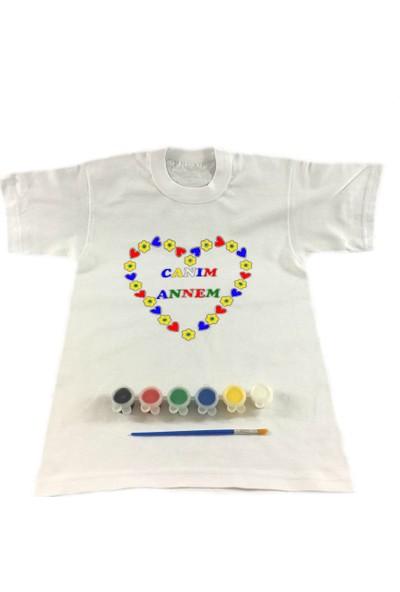 Joy Toys Canım Annem Tişört Boyama Seti -Kalpli - Anneler Günü 8 - 9 Yaş
