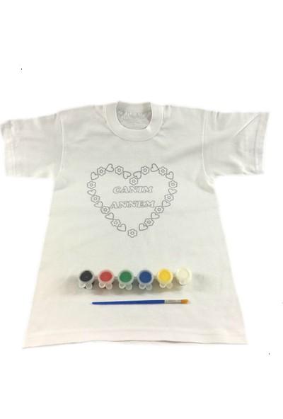 Joy Toys Canım Annem Tişört Boyama Seti -Kalpli - Anneler Günü 10 - 11 Yaş