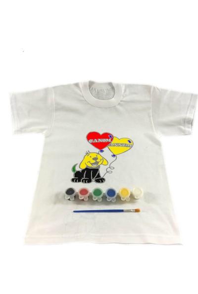 Joy Toys Canım Annem Tişört Boyama Seti -Yavru Köpek - Anneler Günü 12 - 13 Yaş