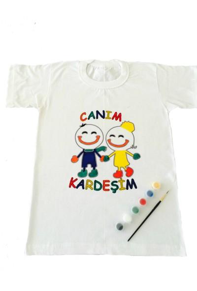 Joy Toys Canım Kardeşim Desenli Tişört Boyama Seti 10 - 11 Yaş