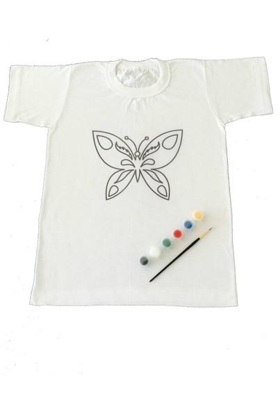 Joy Toys Kelebek Desenli Tişört Boyama Seti 6 - 7 Yaş