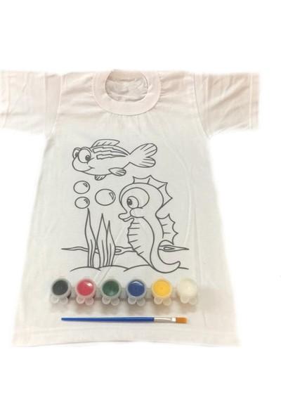 Joy Toys Deniz Canlıları Desenli Tişört Boyama Seti 6 - 7 Yaş