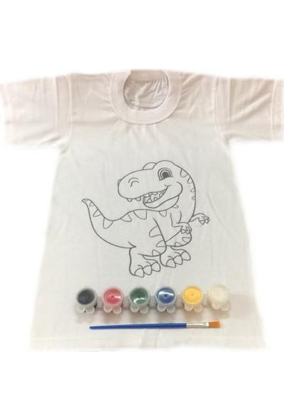 Joy Toys Dinozor Desenli Tişört Boyama Seti 12 - 13 Yaş