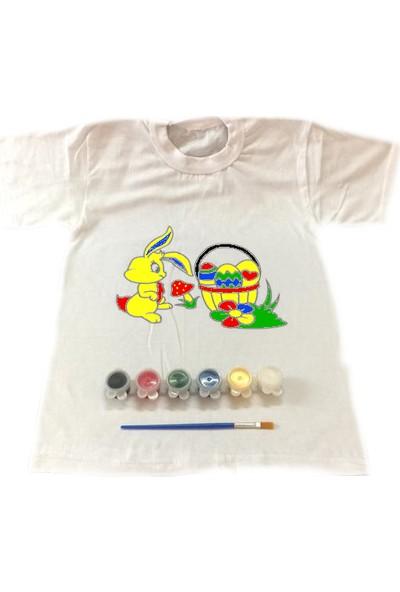 Joy Toys Sevimli Tavşan Tişört Boyama Seti 4 - 5 Yaş