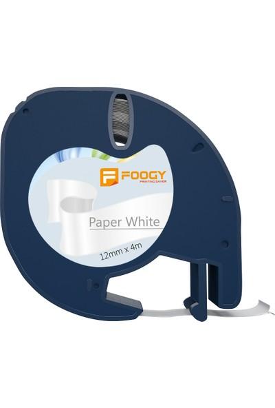 Foogy Dymo LT Muadili Kağıt Şerit Etiket Beyaz
