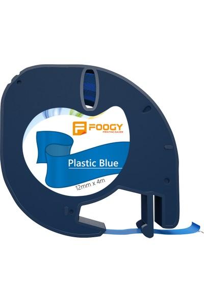 Foogy Dymo LT Muadili Plastik Şerit Etiket Mavi