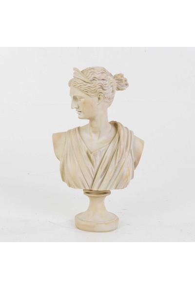 Euro Flora Afrodit Büstü Krem 16,5 x 10 x 28 cm