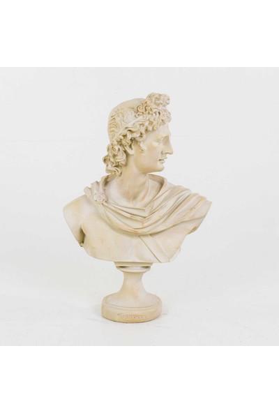 Euro Flora Apollon Büstü Krem 21 x 12 x 30 cm