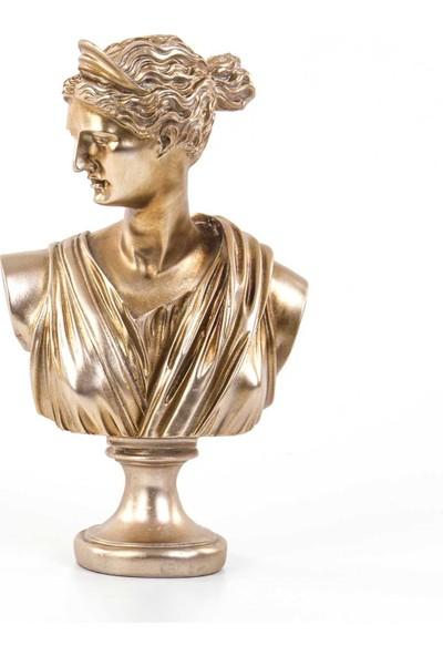 Euro Flora Afrodit Büstü Rosegold 16,5 x 10 x 28 cm