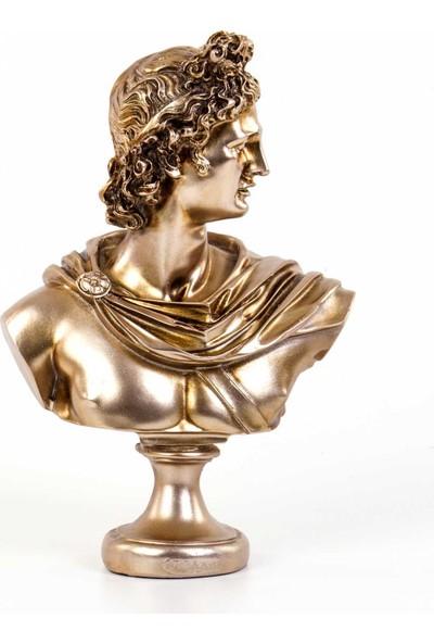 Euro Flora Apollon Büstü Rosegold 21 x 12 x 30 cm