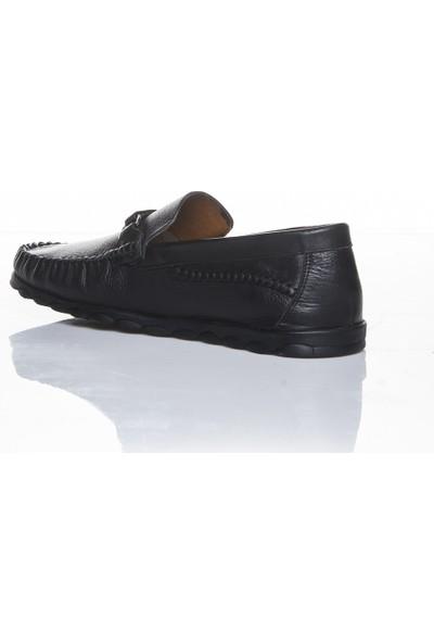 Bemsa 0315 Hakiki Deri Ortapedik Siyah Günlük Erkek Ayakkabı