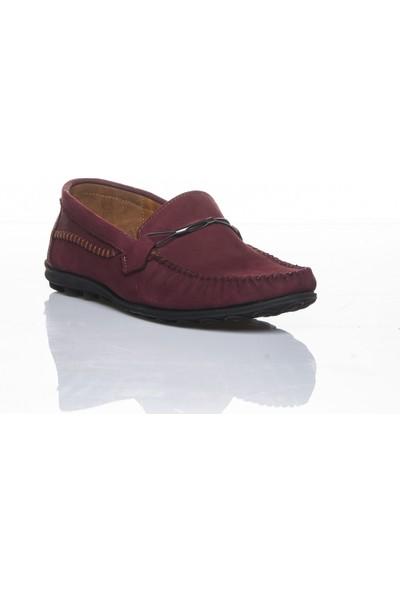 Bemsa 0488 Hakiki Deri Ortapedik Bordo Nubuk Günlük Erkek Ayakkabı