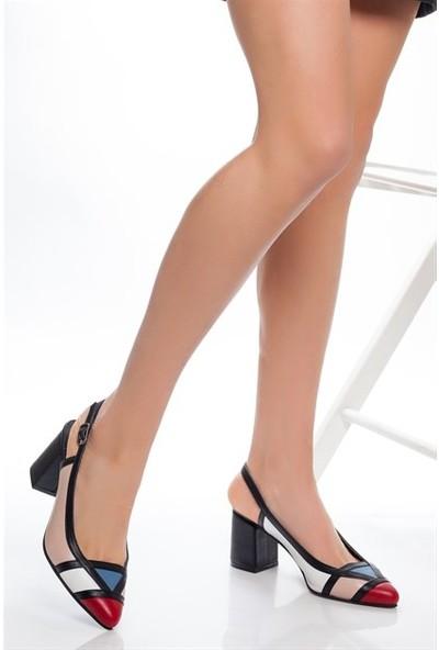 Tarçın Hakiki Deri Klasik Pudra Beyaz Günlük Kadın Topuklu Ayakkabı Trc71-0075