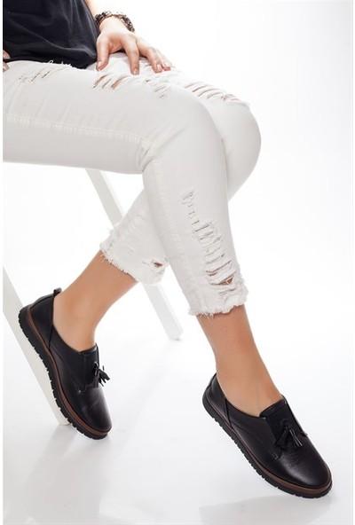 Tarçın Hakiki Deri Günlük Kadın Ayakkabı Trc73-410