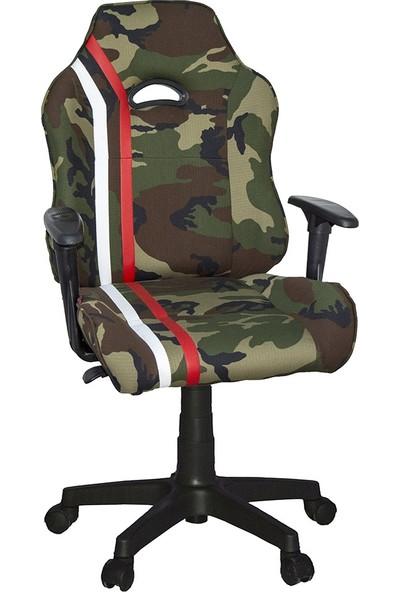 Türksit M3 Yönetici ve Oyuncu Koltuğu Yeşil Kamuflaj