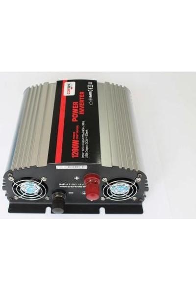 Carspa 1200--2400 Watt 12 Volt İnverter