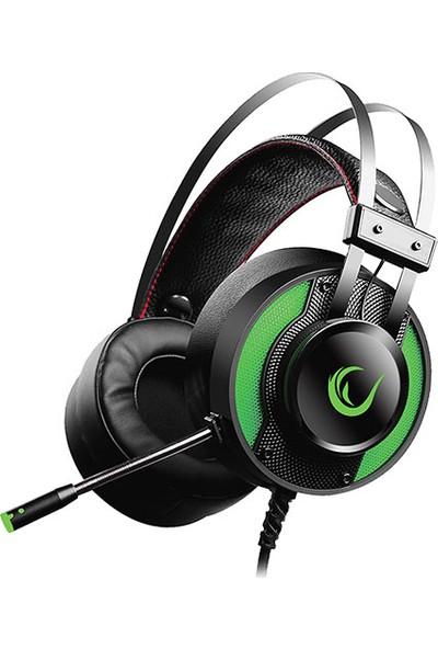 Rampage Miracle-X3 Yeşil Led 7.1 Surround Sound System Mikrofonlu Oyuncu Kulaklığı