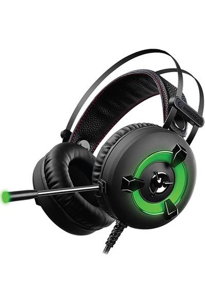 Rampage Miracle-X2 Yeşil Led 7.1 Surround Sound System Mikrofonlu Oyuncu Kulaklığı
