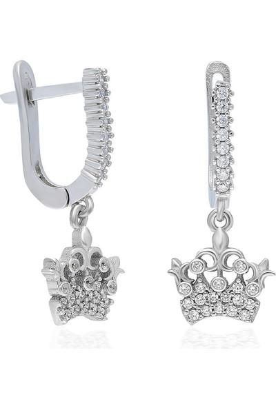 Chewel CHWLLGMSKP0159 Taç Sallantılı Gümüş Küpe