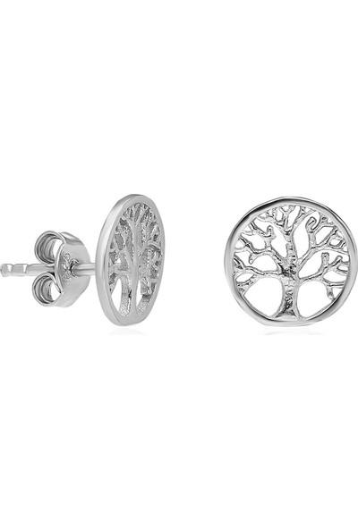 İpek Silver IKU189 925 Ayar Hayat Ağacı Küpe