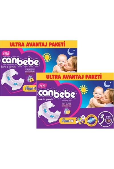 Canbebe Ultra Avantaj Paket 3 Numara Midi 136 Adet 2'Li Set