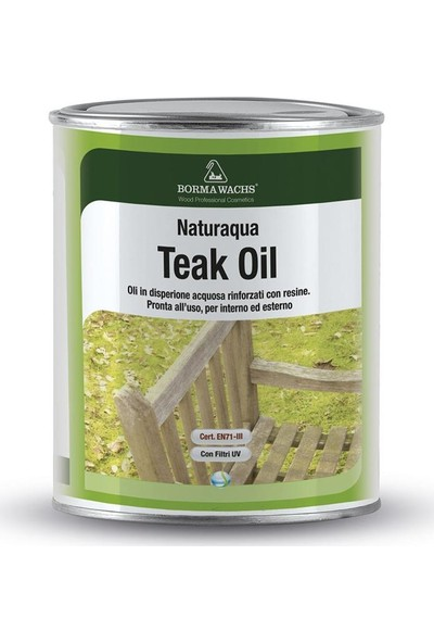 Borma Wachs Naturaqua Teak Oil Su Bazlı Teak Yağı