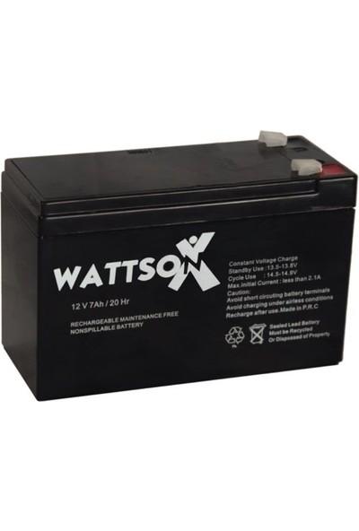 Wattson 12V 7Ah Asansör Aküsü