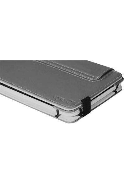 "Eye-Q EQ-LTAB7TRQ 7"" Koyu Gri Suni Deri Universal Tablet Kılıfı"
