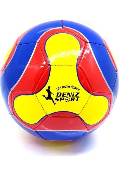 Deniz Sport 5 Numara Carissman Futbol Topu Mavi