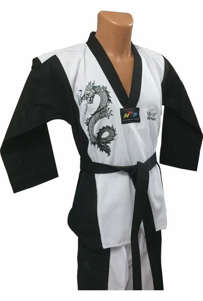 Pitbull Premium Siyah Yaka Taekwondo Elbisesi