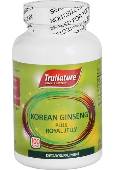 Trunature Korean Ginseng Plus Royal Jelly 100 Kapsül