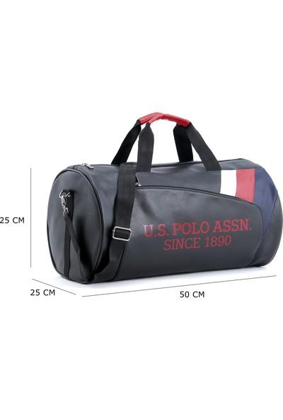 Us Polo Assn Plduf9501 Suni Deri Seyahat Çantası Siyah