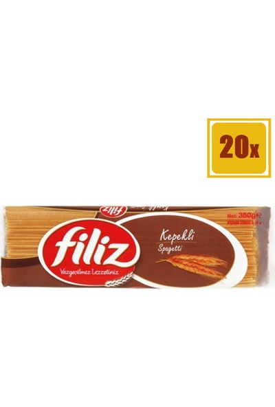 Filiz Kepekli Spagetti Makarna 350 gr 20'li Set