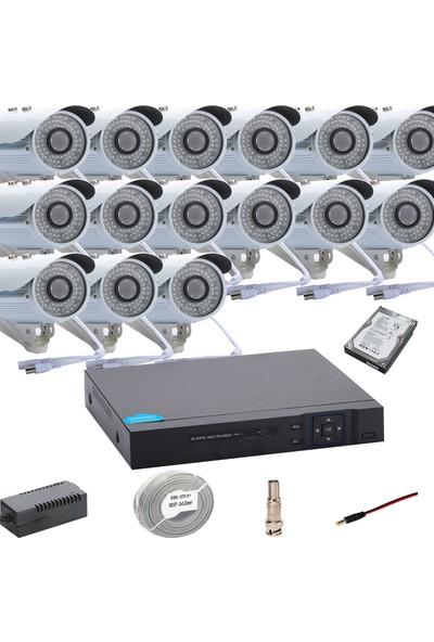 Promise 15 Kameralı Set Ahd 1080P Big Led Harddisk Dahil