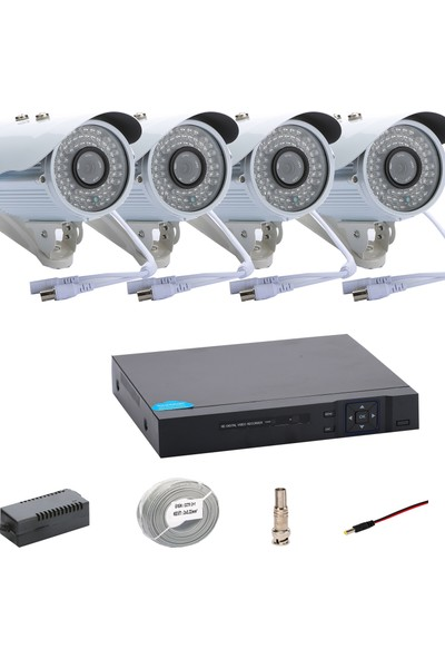 Promise 4 Kameralı Set Ahd 1080P Big Led