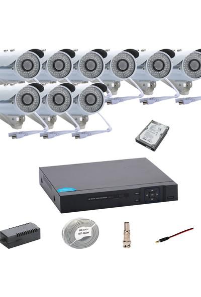 Promise 9 Kameralı Set Ahd 1080P Big Led Harddisk Dahil